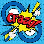 Pop Art comics icon Crazy!.