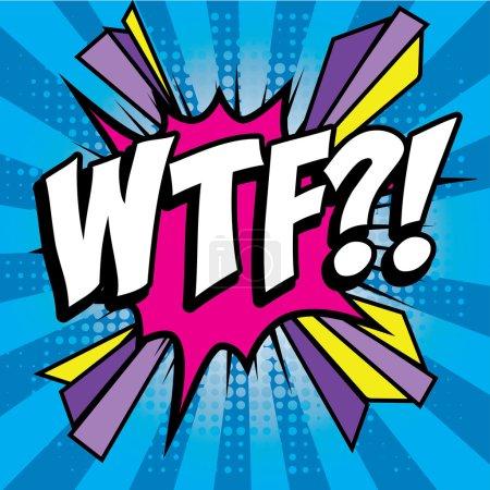 "Pop Art comics icon ""WTF!""."