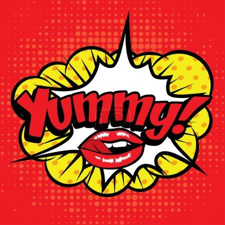 "Pop Art comics icon ""Yummy!""."