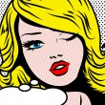 Pop Art Woman winks. vector illustration. Winking ...