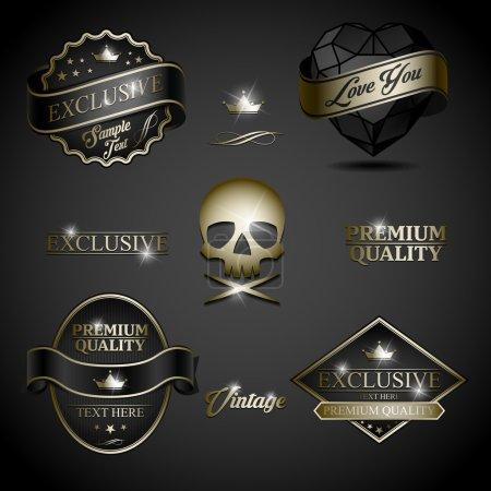 black gold label
