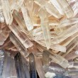 Natural quartz crystals in the form of ice shards