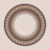 Mandala Doodle vector Geometric decorative round plate with ornament Kyrgyz Kazakh circular abstract pattern Design element ornaments