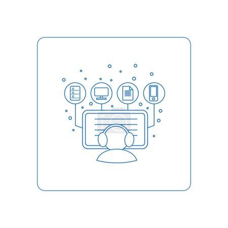 Illustration pour Style de ligne piktogramm, symboles pour le web. Bouton du rapport d'affaires. Isolé sur fond et facile à utiliser. Icône parfaite votre site. icônes de style de ligne vectorielle - image libre de droit