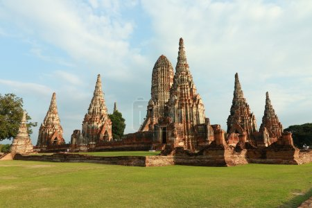 Pagoda Of Wat Chaiwatthanaram the temple in Ayutthaya, Thailand