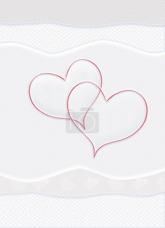 Photo for Valentine Day Greeting Cards, Valentine's Day E-Cards. Card. Valentine Card Messages Happy Valentines, Valentine Greeting Card. Love is the most wonderful of all feelings in this world. Greeting card with two hearts on white homemade background. - Royalty Free Image