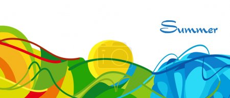 RIO 2016. Summer Olympic and Paralympic Games abstract background. Brazil summer games wallpaper. Rio de Janeiro Sport Athletic Vector illustration