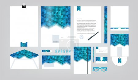 Corporate identity template. Vector company style for brand book and guideline.