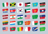 Set of world flags Sticker with flags