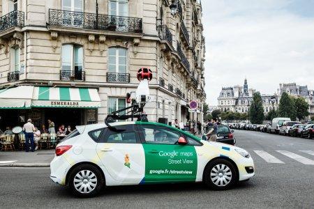 Paris, France - 04 september 2014: Google car on the Paris streets