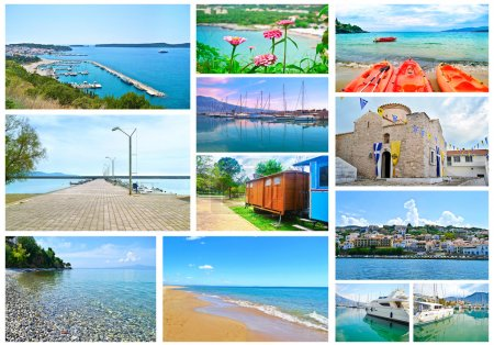 collage of Peloponnese Greece