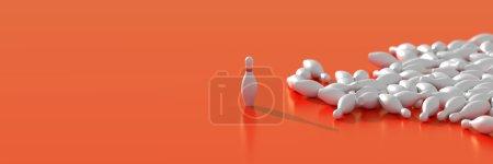 Bowling pins, leadership concepts