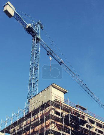 Photo for Construction site modern buildings, industry and architecture concepts - Royalty Free Image