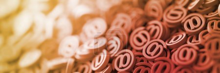 Email symbols, 3d rendering background