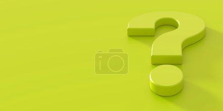 Foto de Trasfondo conceptual de signo de interrogación, render 3d - Imagen libre de derechos