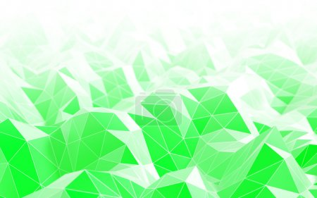 Polygonal green abstract background