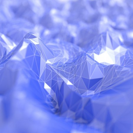 Polygonal blue abstract background