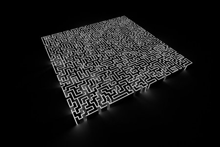 Photo for Maze background, risk and solution illustration concepts - Royalty Free Image