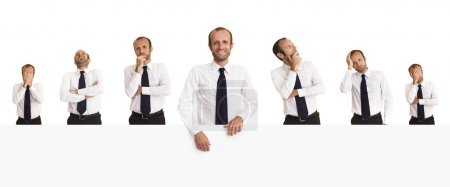 Collection of businessmen portrait with different expression