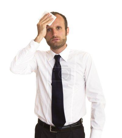 Besorgter und deprimierter Geschäftsmann