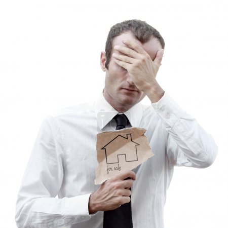 Worried and depressed businessman