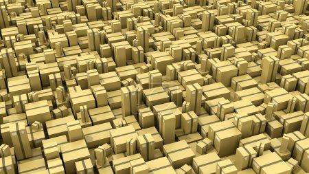 Photo pour Concepts de l'industrie de la logistique, illustration 3D - image libre de droit