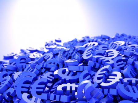 Euro currency symbols background