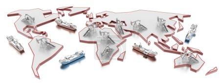 Photo pour Concepts logistiques de l'industrie, illustration 3d - image libre de droit