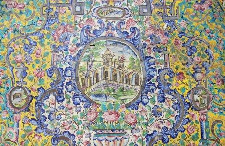 Original Iranian mosaic tiles decoration