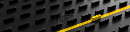 Photo for Shipping and logistics conceptual 3d illustration - Royalty Free Image