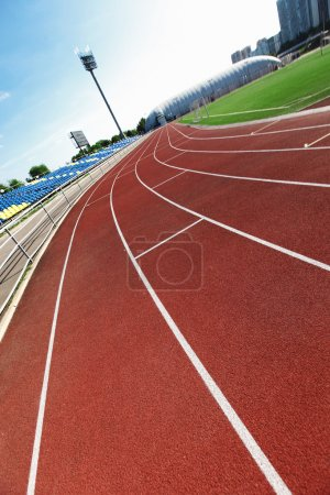 Photo for Path for the run on the sport stadium - Royalty Free Image