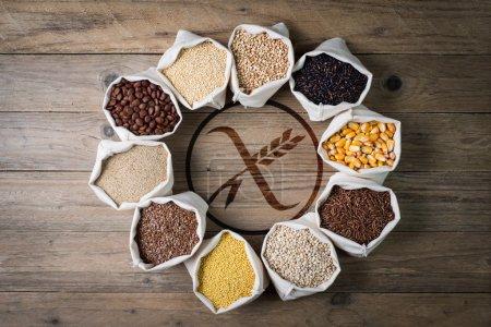 Photo for Cereali senza glutine con logo gluten free - Royalty Free Image