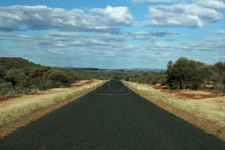 Road to Horizon in Outback Pilbara Region