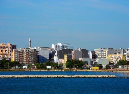 Cityscape of Bari, Italy.