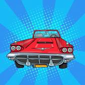 Vitage American Car Retro Vehicle Pop Art Vector illustration