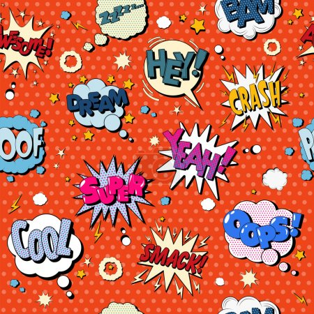Comics Bubbles Seamless Pattern in