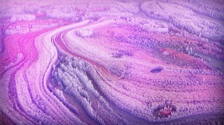 Photo pour Fond paysage abstrait de boîtes colorées tridimensionnelles - image libre de droit