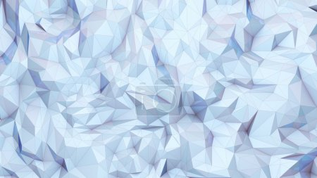 Photo for Abstract 3d rendering White Low Poly Background - Royalty Free Image