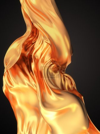 Gold Cloth abstract background 3d rendering