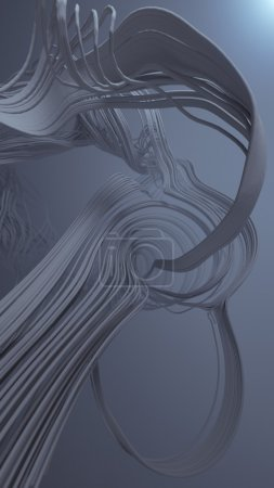 Abstract 3d rendering trail trace effect