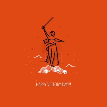Modern vector Victory Day design concept