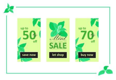 Mint Sale Web Banners Set