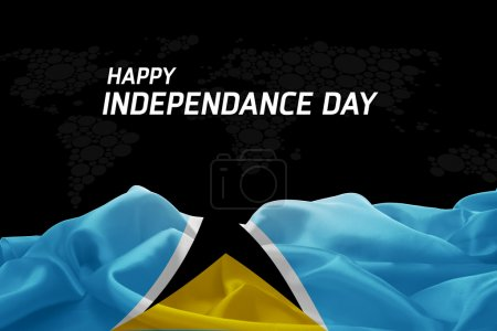 Saint Lucia Independence Day card