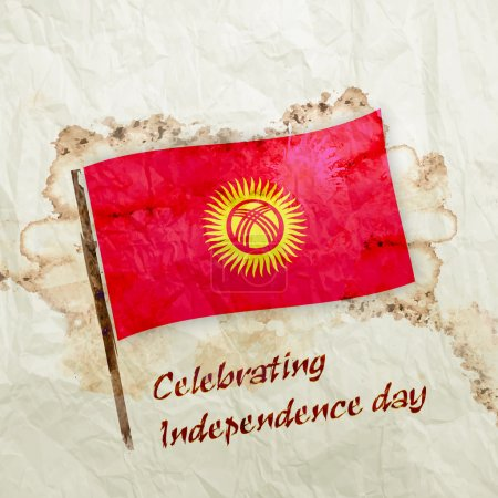 Kyrgyzstan flag and paper book