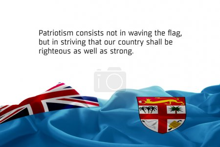 Patriotism consists not in waving the flag concept