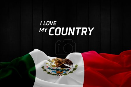 Photo for I Love My Country with Mexico  flag - Royalty Free Image