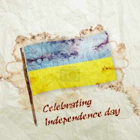 Ukraine grunge flag in official colors