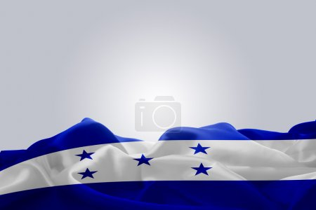 waving abstract fabric Honduras flag