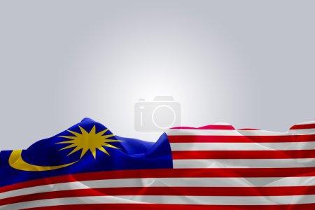 waving abstract fabric Malaysia flag