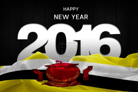 Happy New Year 2016 and Brunei Flag